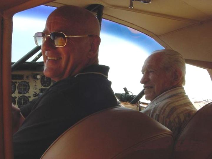 Tom and Larry in the Staggerwing